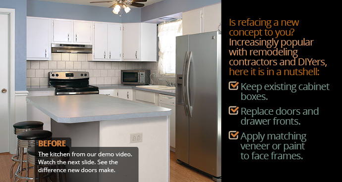 Beautiful Kitchen Reface | Completely Change Your Kitchen. Just Pick A Weekend.