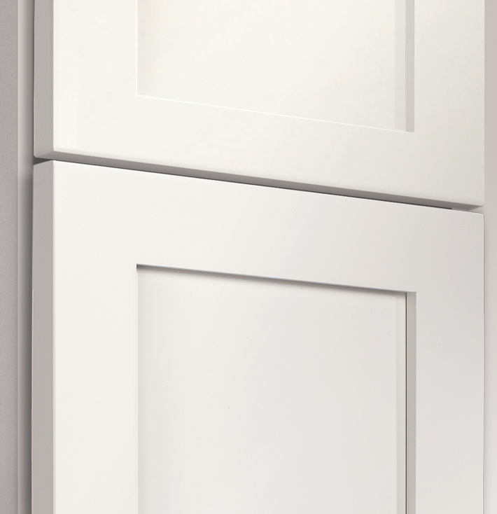 White - MDF composite with Silky Smooth Finish.